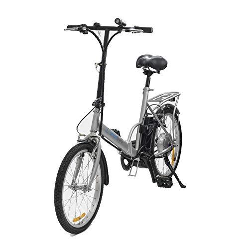 Smartgyro Bicicletta Elettrica Pieghevole con Pedale Assistita, Ruote Pneumatiche da 20', Batteria...