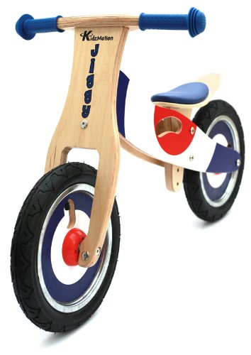 The Kidzmotion Jiggy Wooden Balance Bike is a sleek and stylish balance bike will steal the show in any playground, street or courtyard. The design implies a bike that suits both boys and girls whilst its adjustable seat ensures children of different heights can use it. In fact, this bike has a durable construction that it will be passed on to younger kids waiting in line. We think it offers fantastic value at just under £50.  Jiggy Wooden Balance Bike / first bike / running bike