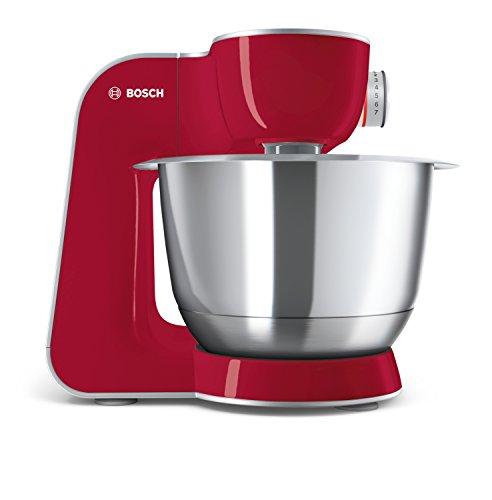 Bosch MUM58720 Macchina da Cucina 1000 W, 3.9 Litri, Acciaio Inox e Plastic 7 velocità, Rosso
