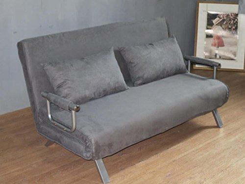 ITALFROM Sofa Bed Grigio 155x69x83h Divanetto Divano Letto 2 Piazze cod.4033, Metallo