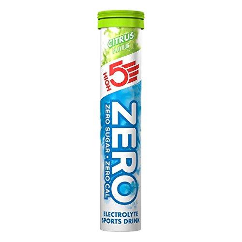 High5Zero Citrus comprimidos de nutrición deportiva, 20-Count