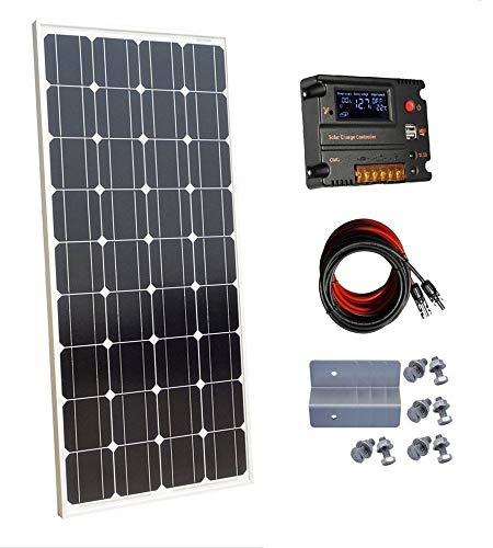 ECO-WORTHY Pannello solare monocristallino da 100 Watt 12 Volt con Controllore di carica da 10 A per...