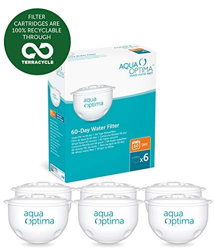 Aqua Optima Filtros de Agua para 60 días, 1 año