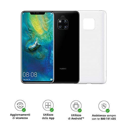 Huawei Mate 20 Pro (Black) più Cover Originale, Telefono con 128 GB, Display Oled 6.39' QHD+, Processore Octa Core dinamico con Intelligenza Artificiale, Dual SIM [Versione Italiana]
