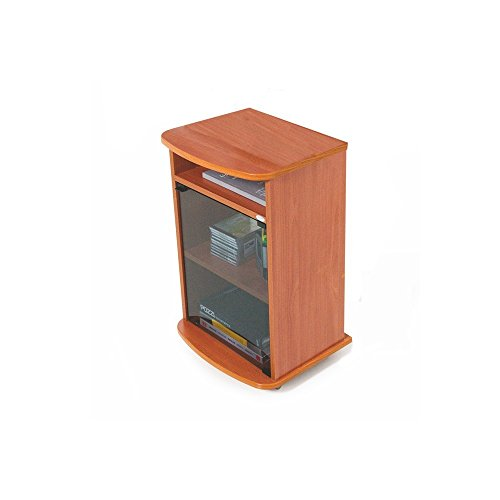 WEBMARKETPOINT Carrello Porta Tv Mobile Color Ciliegio Con Vetrina Cm 47x40xh 73