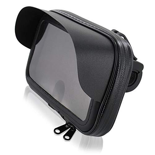 FM24 Motorrad Fahrrad Bike Set Halterung Tasche mit Sonnendach XL für Smartphone Handy Geräte bis max. 160 x 90 mm