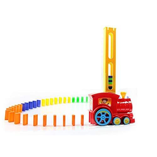 VHNVHN Il Domino Train Automatico ha alzato Il Giocattolo Domino con Blocchi sonori Leggeri