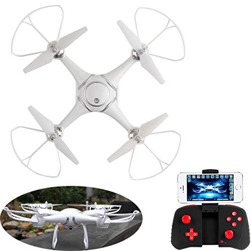 YYD FPV WiFi Drone con Videocamera HD 1080P per Filmati dal Vivo, Quadricottero RC con Funzione Headless, Facile da Controllare per I Principianti,Fotocamera 12 MP,Video Full HD- Bianco