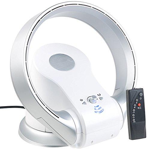 Sichler Haushaltsgeräte Rotorloser Ventilator: Rotorloser 360°-Tischventilator & Heizlüfter, Oszillation, bis 1.100 W (Rotorloser Lüfter)