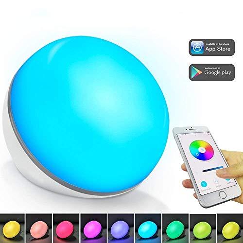 Happyroom Lámpara de mesa inteligente - bajo control de Voz por WiFi o cellular inteligente, compatible con Amazon Alexa o Google Home Alimentado por USB Sin adaptador【Actualizado con tuya smart】(1)