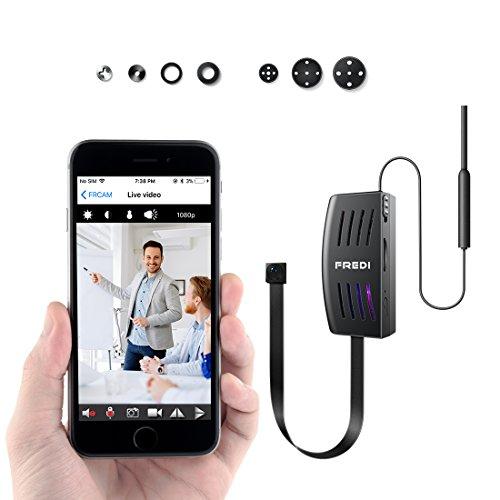 FREDI Microcamera spia HD 1080P con rete Wi-Fi Telecamera nascosta modulare P2P fai da te senza fili...