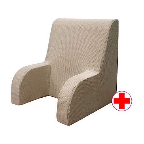 GEEMMA s.r.l. Poltrona comodone Plus, Schienale Ortopedico o Poltrona Sanitaria con Tessuto sfoderabile e Lavabile. Poltrona da Letto per Anziani o Allattamento