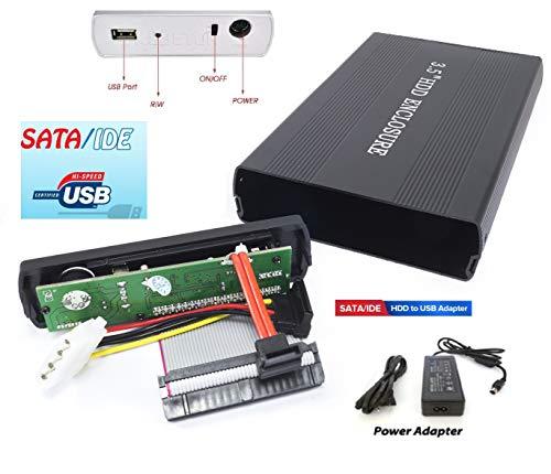CASE BOX ESTERNO PER HARDISK HARD DISK IN ALLUMINIO HD 3.5' IDE SATA USB 2.0 HDD