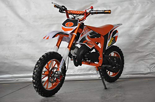 Mini PITBIKE con motore da 49 cc a 2 tempi, XTM Team Cross. Mini Dirt Bike. Moto di Mini Cross...