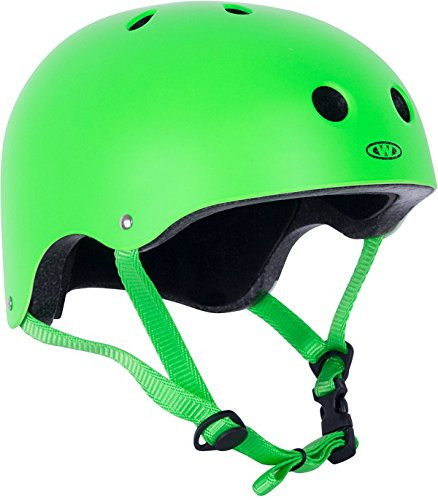WORKER Skaterhelm Neonik grün Gr. 49-53, 53-56, 56-59, 59-62 cm verstellbar (M 56-59 cm)
