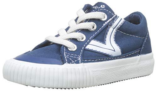 victoria Tribu Lona Retro, Sneaker Unisex-Bimbi, Blu (Azul 36), 25 EU