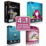 Serif 4 in 1 Image/Photo Editing Software includes PhotoPlus, DrawPlus, PanoramaPlus & CraftARTIST For Windows XP/Vista/7/8/10 + Activation Keys