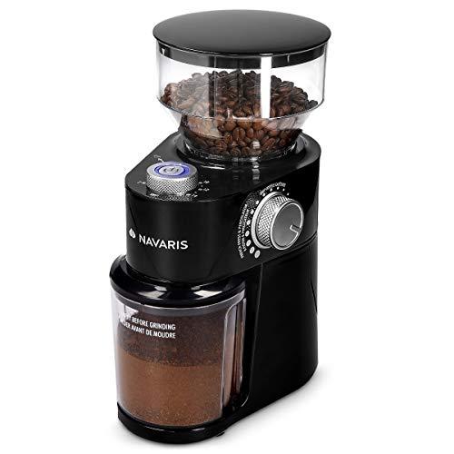 Navaris Macinacaffè Professionale Casa - Coffee Grinder Elettrico Macchina Macina Semi - Macinino...