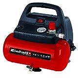 Einhell TH-AC 190/6 OF - Compresor de aire, 8 bar, depósito 6 l, aspiración 185 l/min, 1100 W, 230...