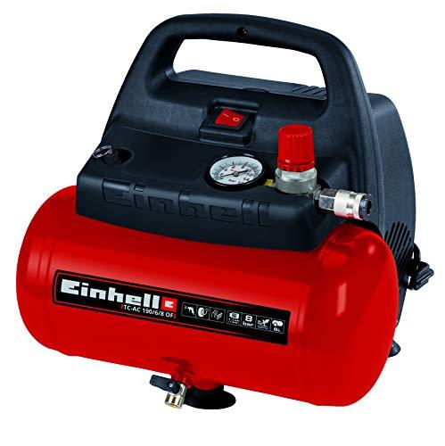 Einhell TC-AC 190/6/8 OF Kompressor, 1.100 W, max. 8 bar, öl-/servicefreier Motor, 6 l