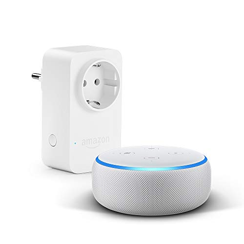 Nouvel Echo Dot (3ème génération), Tissu sable + Amazon Smart Plug (Prise connectée WiFi), Fonctionne avec Alexa 22