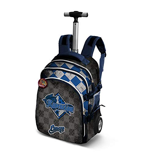 Harry Potter Quidditch Ravenclaw-Travel Trolley-Rucksack Zaino Casual, 28 liters, Blu