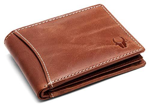 WildHorn Genuine Tan Crunch Men's Leather Wallet