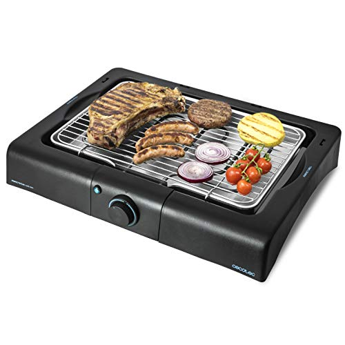 Cecotec Barbecue de table électrique PerfectSteak 4200 Way de 2400 W, gril en acier inoxydable et hauteur ajustable sur 3 niveaux.