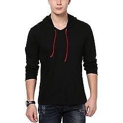 Katso Men's Cotton T-Shirt (KATSO-HOOD-FULL-BLACK-L_Large_Black)