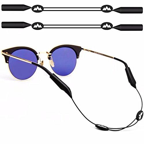maxin 2pack ajustable gafas de retención, 16 pulgadas sin correas de la cola gafas de sol, sostenedor de gafas de sol, retenedor de gafas de sol (negro)