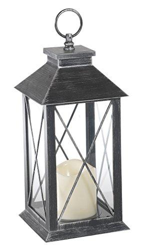 Flower Power 9716 Laterne Inklusive LED-Outdoor Kunststoff-Kerze
