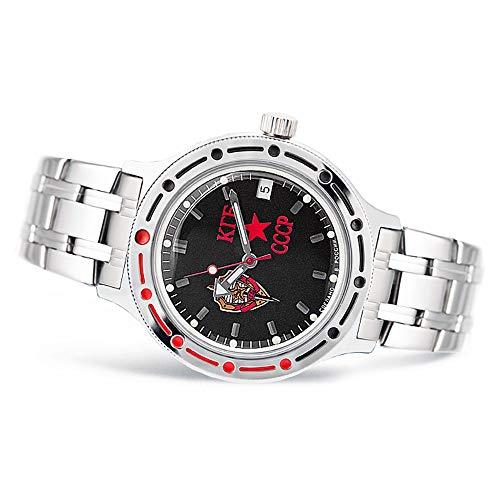 Vostok KGB 2416/420457, orologio da polso, quadrante automatico, colore: nero