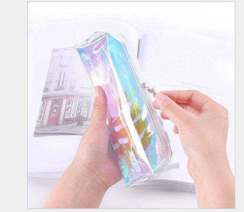 Astuccio trasparente multicolore, portamatite, idea regalo, per la Scuola