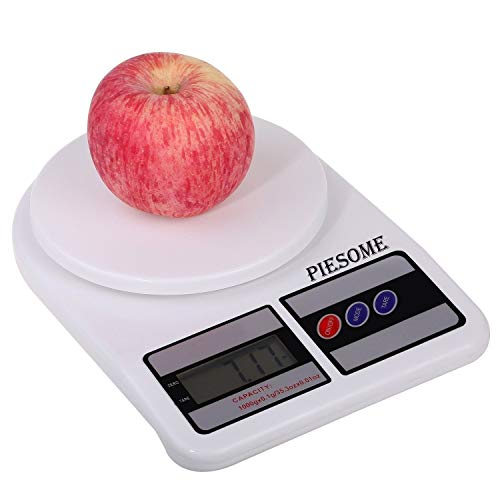 Piesome Electronic Digital Kitchen Weight Scale, Kitchen Scale Digital Multipurpose, Weight Machine, Weight Scale Kitchen, Kitchen Weight Machine Digital(10 Kg)(White)