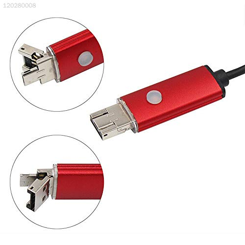 ELECTROPRIME DA3F Red 8mm Android Borescope Camera Endoscope USB 1m 2.0MP Inspection