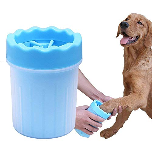 Foodie Puppies Foot Washing Cup, Pet Paw Cleaner, Portable Dog Washer with Feet Soft Silicone Bristles-Small (Colour May Vary)