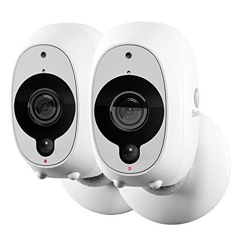 Swann Telecamera di Sorveglianza Smart: Videocamera di Sicurezza Wireless 1080p Full HD con Sensore di Calore/Movimento PIR True Detect (EU) - Kit 2 telecamere