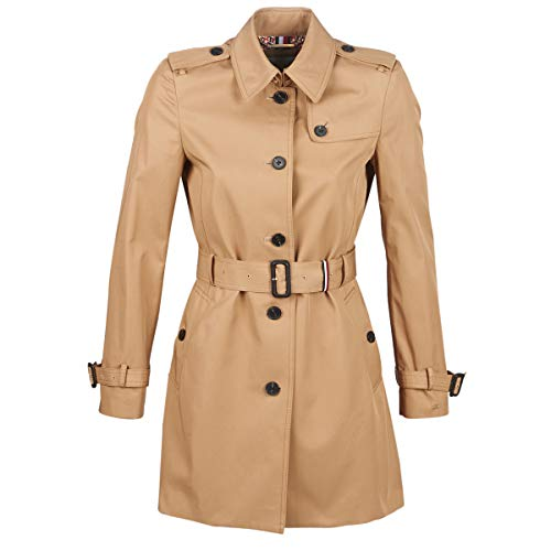 Tommy Hilfiger Seasonal Single Breasted Trench Giubbotto, Beige (Marilyn 202), Medium Donna