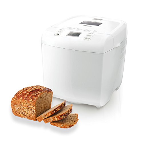 Philips Daily Collection HD9015/30 Macchina del Pane, 550 W, 1 kg, Timer Integrato, Bianco