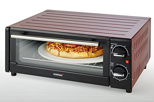 Korona 57000Forno per pizza, 15L, 1300W, Nero/Rosso