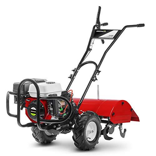 Greencut GTC220XE GTC220XE-Motocultor de Gasolina 7cv Ancho 70cm Potente con Arranque electrico, Rojo