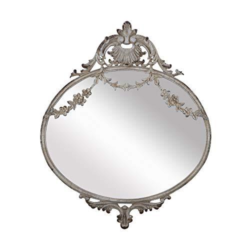 NIKKY HOME 26.5CM Specchio da Parete in Metallo Vintage a Sospensione Vecchio Stile per la Decorazione Domestica