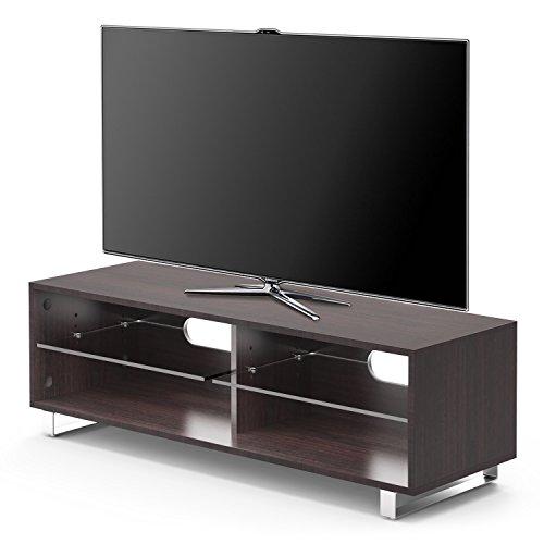 1home TV Supporto Porta di Vetro Mensola di Vetro di Rivere e Noce Fino a 60 ' a Schermo Piatto LCD...