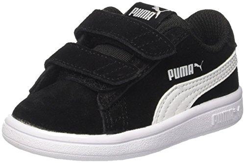 Puma Smash V2 SD V Inf', Scarpe da Ginnastica Basse Unisex-Bambini, Nero Black White, 20 EU