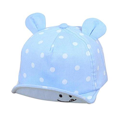 QinMM Sombrero de Punto Lindo de Las Niñas y Niños bebé, Gorra de Sol de Béisbol de Verano (Azul Claro)