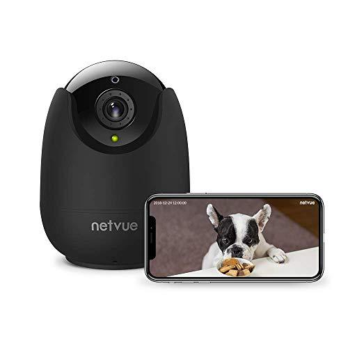 Telecamera wi-fi Interno, NETVUE Full HD 1080P Videocamera Sorveglianza Compatibile con Alexa, Visione Notturna, Audio Bidirezionale, Rilevamento di Movimento, PTZ IP Camera Wifi Per Bambino/Infant