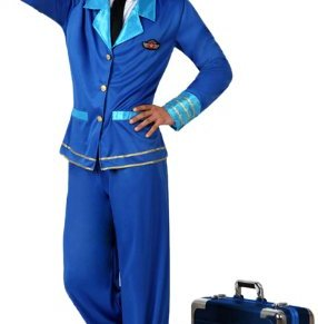 Atosa- Disfraz piloto, Color azul, M-L (15790)