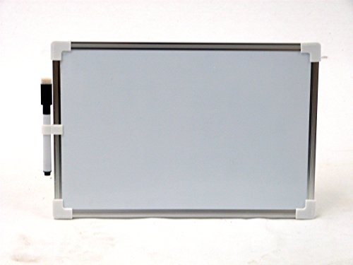 Lavagna magnetica cancellabile a secco portapenna, telaio in alluminio 20X30CM