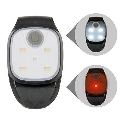 Kopflampe Jogginglampe Lauflampe Cliplampe Sicherheitslicht LED Strinlampe I für Schulkinder Radfahrer Spaziergänger Walker Läufer Jogger, weiße und rote LED wählbar