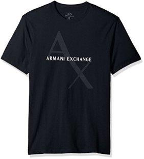 Armani-Exchange-8nzt76-Camiseta-para-Hombre-Azul-Navy-1510-Small